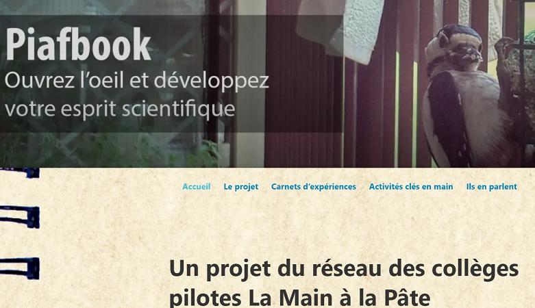 Piafbook : un projet du réseau des collèges pilotes La main à la pâte